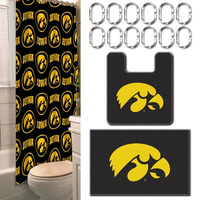 Collegiate Iowa 15 Piece Shower Curtain Set