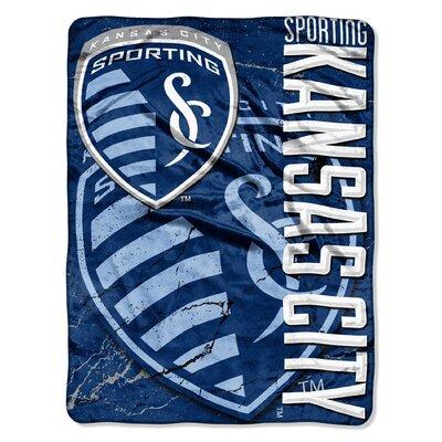 MLS Sporting KC Spancrete Micro Polyester Raschel Throw