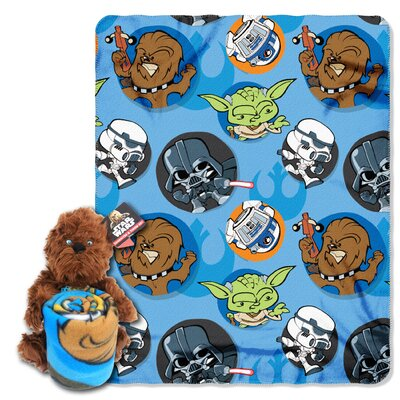 Star Wars Classic Chewie 2 Piece Fleece Throw and Hugger Pillow Set