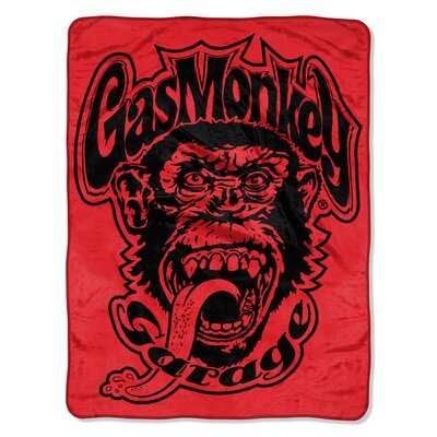 Gas MG - Red Monkey Logo Polyester Throw