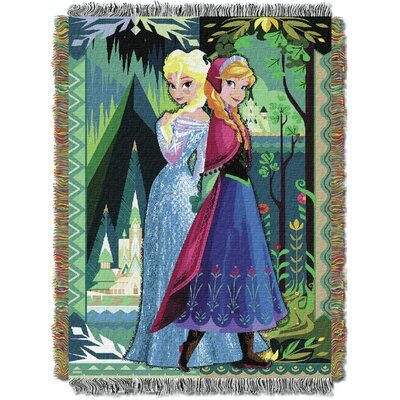Frozen - Two Worlds One Heart Tapestry Throw