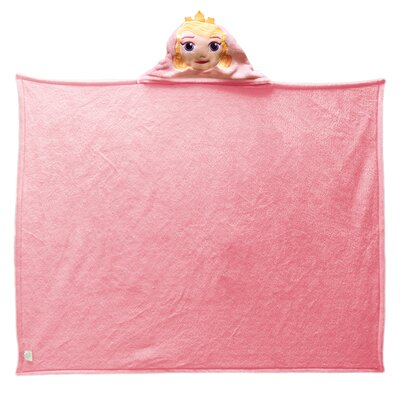 Princess-Hooded Aurora Polyester Fleece Throw