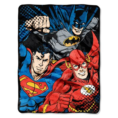 Justice League - League Trio Polyester Throw