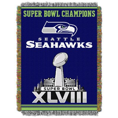 NFL Seahawks Commemorative Series Woven Tapestry Throw
