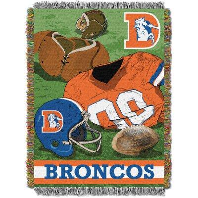 NFL Broncos Vintage Tapestry Throw