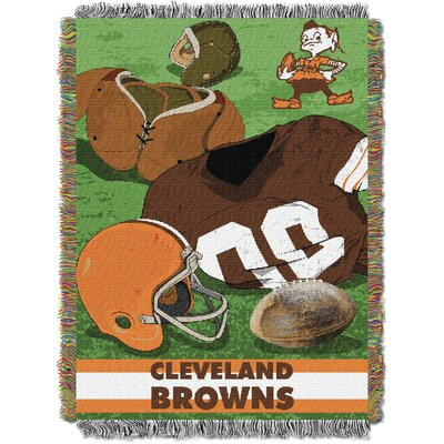 NFL Browns Vintage Tapestry Throw