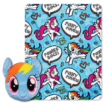 My Little Pony Rainbow Rocks 2 Piece Fleece Throw and Pillow Set