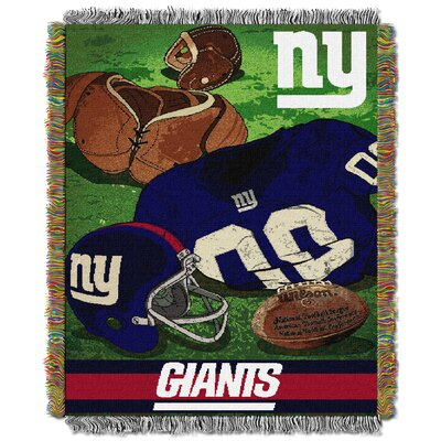 NFL NY Giants Vintage Tapestry Throw
