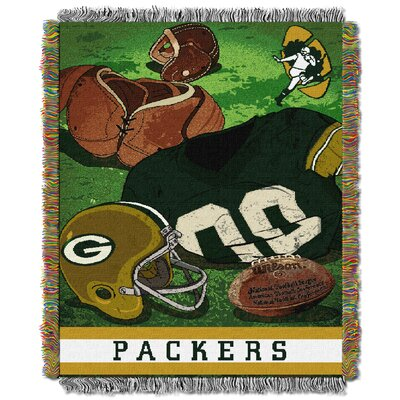 NFL Packers Vintage Tapestry Throw