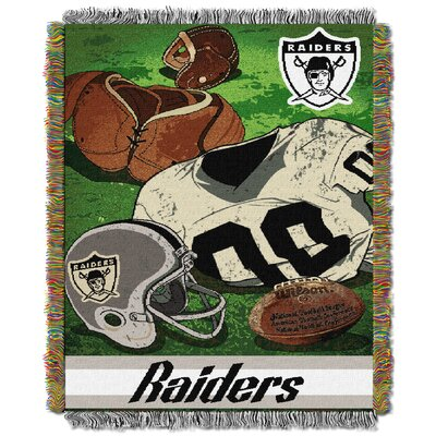 NFL Raiders Vintage Tapestry Throw