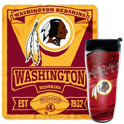 NFL Redskins 2 Piece Fleece Throw and Travel Mug Set