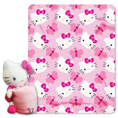 Hello Kitty Butterfly Throw Set