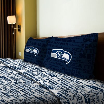 NFL Seahawks Anthem Sheet Set Size: Twin