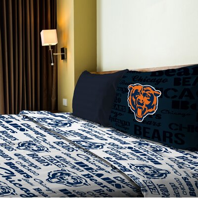 NFL Bears Anthem Sheet Set Size: Full