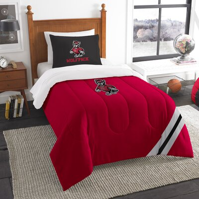 Collegiate North Carolina State Varsity Comforter Set Size: Twin