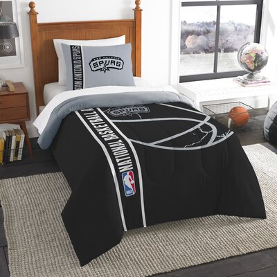 NBA Spurs Basketball Comforter Set Size: Twin