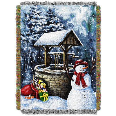 Snowman Wishing Well Throw