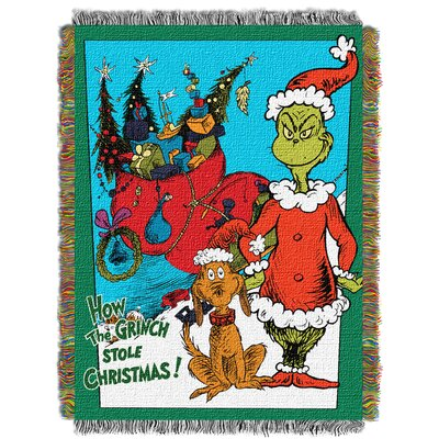 Dr. Seuss Christmas Smile Throw