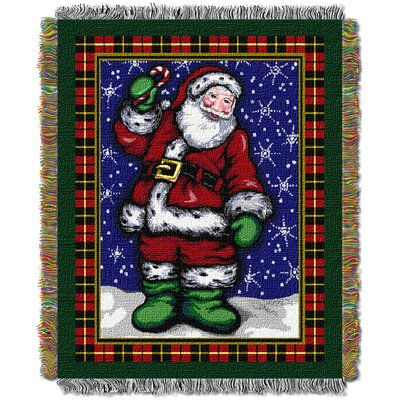 Plaid Santa Throw