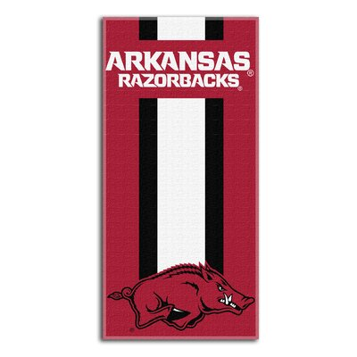 Collegiate Arkansas Zone Read Beach Towel