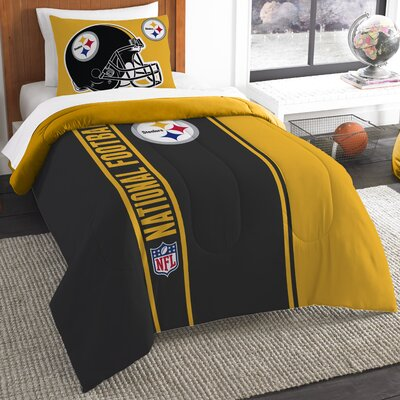 NFL Steelers Helmet Comforter Set Size: Twin