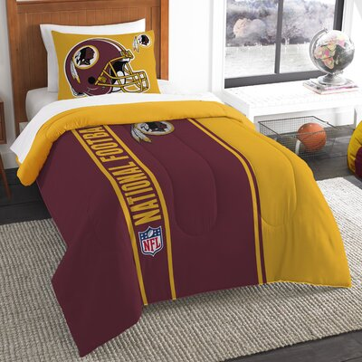 NFL Redskins Helmet Comforter Set Size: Twin
