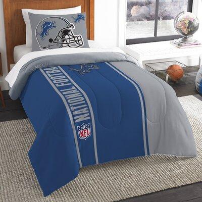 NFL Lions Helmet Comforter Set Size: Twin