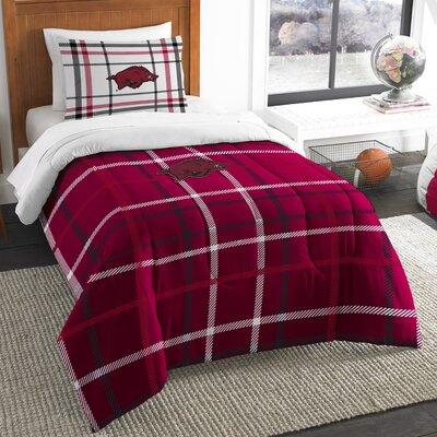 Collegiate Arkansas Comforter Set Size: Twin