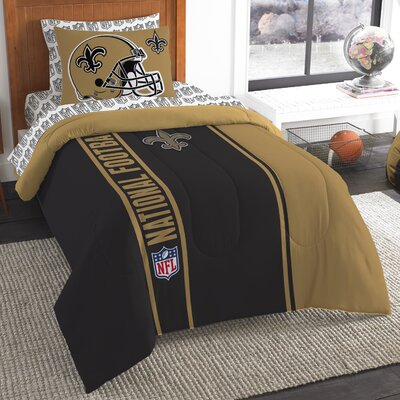 NFL Saints Comforter Set Size: Twin