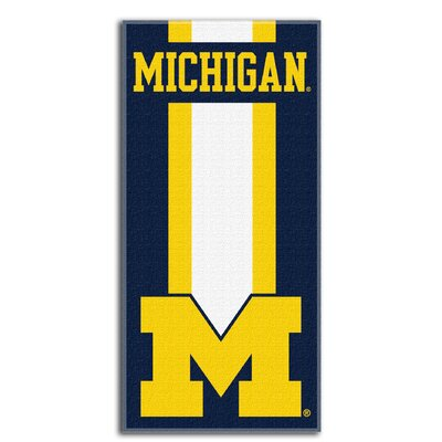 Collegiate Michigan Zone Read Beach Towel