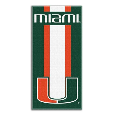Collegiate Miami Zone Read Beach Towel