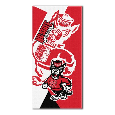 Collegiate North Carolina State Puzzle Beach Towel