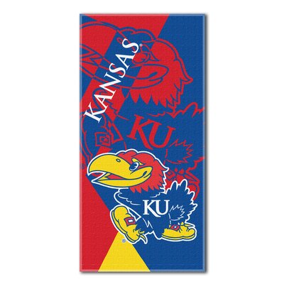 Collegiate Kansas Puzzle Beach Towel