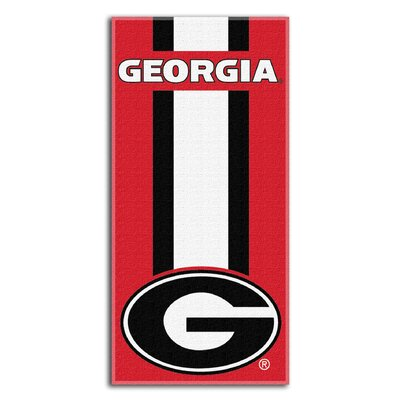 Collegiate Georgia Zone Read Beach Towel