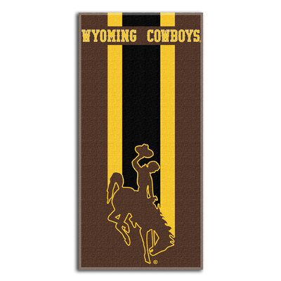 Collegiate Wyoming Zone Read Beach Towel