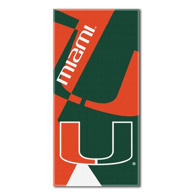Collegiate Miami Puzzle Beach Towel