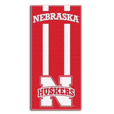 NCAA Zone Read Beach Towel NCAA Team: University of Nebraska Lincoln