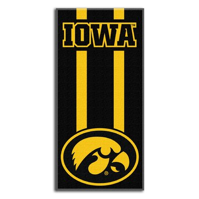 Collegiate Iowa Zone Read Beach Towel