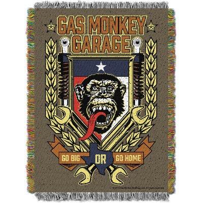 Gas Monkey Garage Tongue Swag Throw