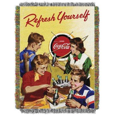 Coca Cola Refresh Yourself Throw