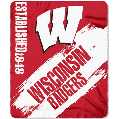 Collegiate Wisconsin Painted Fleece Throw
