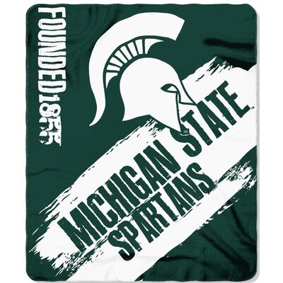 Collegiate Michigan State Painted Fleece Throw