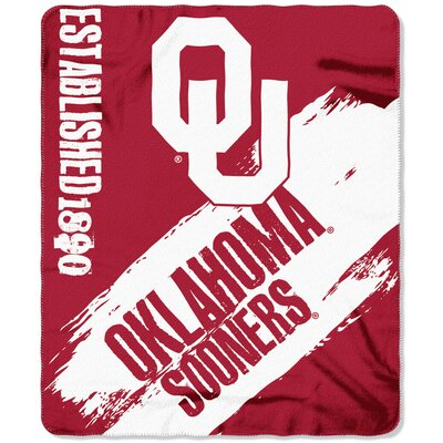 Collegiate Oklahoma Painted Fleece Throw