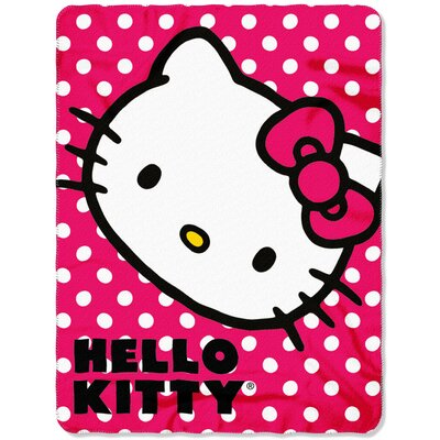 Hello Kitty Polka Dot Throw