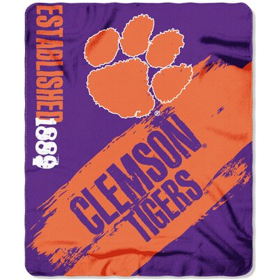 Collegiate Clemson Painted Fleece Throw
