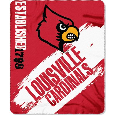Collegiate Louisville Painted Fleece Throw