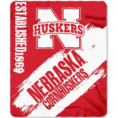 Collegiate Nebraska Painted Fleece Throw
