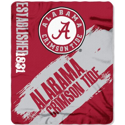 Collegiate Alabama Painted Fleece Throw