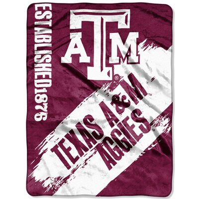 Collegiate Texas A&M Painted Fleece Throw