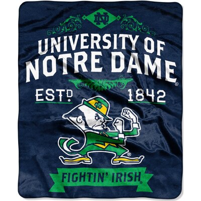 Collegiate Notre Dame Label Throw